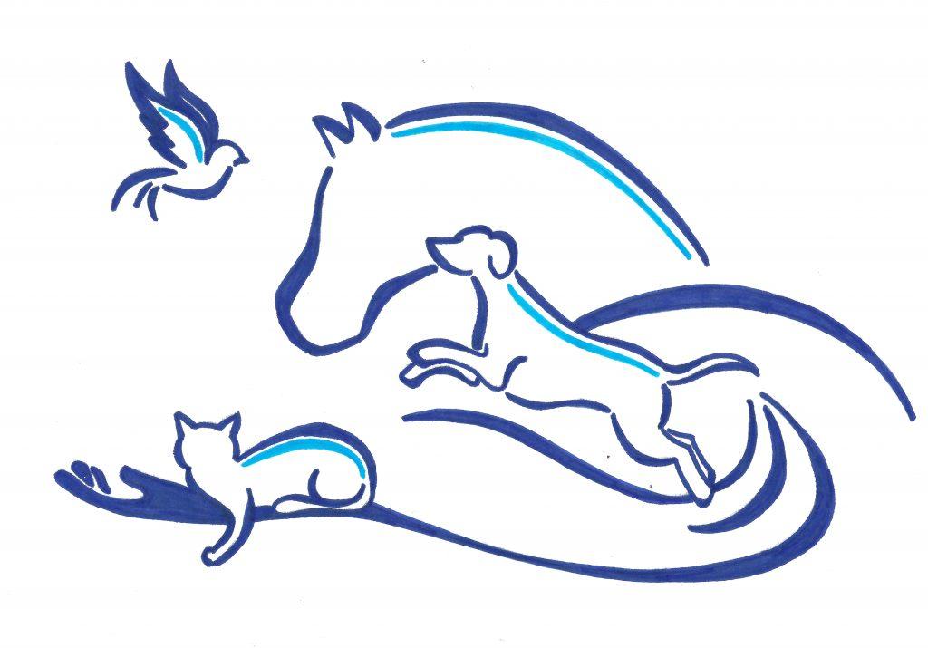 Logo Pauline DUCOUSSO ostéopathe animalier